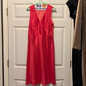 Ann Taylor Fuchsia MIdi-Dress